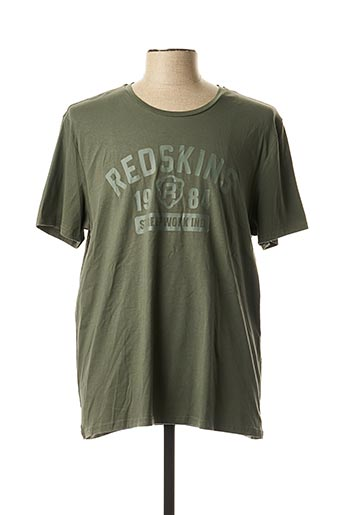 T-shirt manches courtes vert REDSKINS pour homme