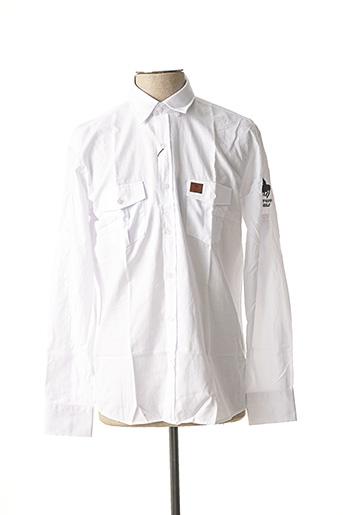 Chemise manches longues blanc FRANK FERRY pour homme