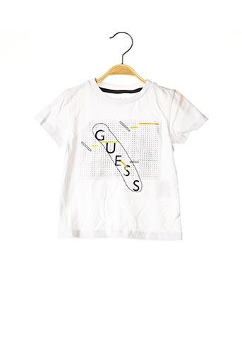 T-shirt manches courtes blanc GUESS pour garçon