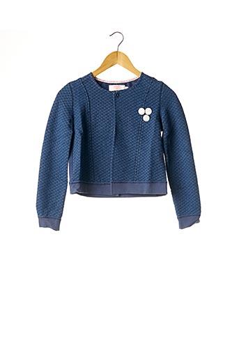 Veste casual bleu LE TEMPS DES CERISES pour fille