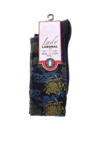 Chaussettes bleu LABONAL pour femme