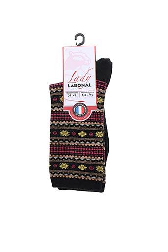 Chaussettes noir LABONAL pour femme
