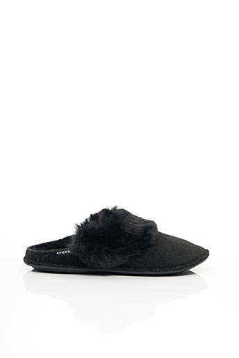 Chaussons/Pantoufles noir CROCS pour femme