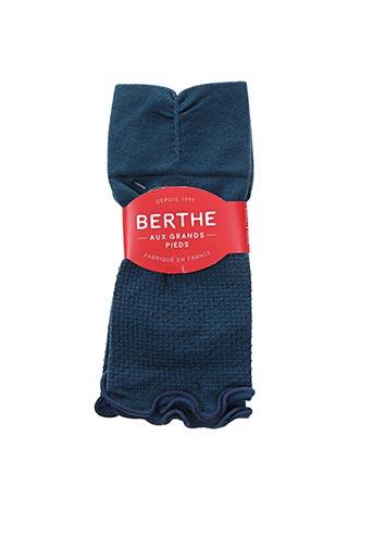 Mitaines bleu BERTHE AUX GRANDS PIEDS pour femme