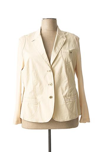 Veste chic / Blazer beige LUCIA pour femme