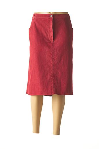 Jupe mi-longue rouge KARTING pour femme