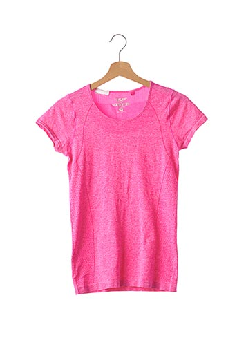 T-shirt manches courtes rouge NY ATHLETICS pour femme
