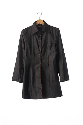 Manteau long noir BESTLER pour femme