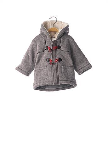 Manteau long gris GRAIN DE BLÉ pour garçon