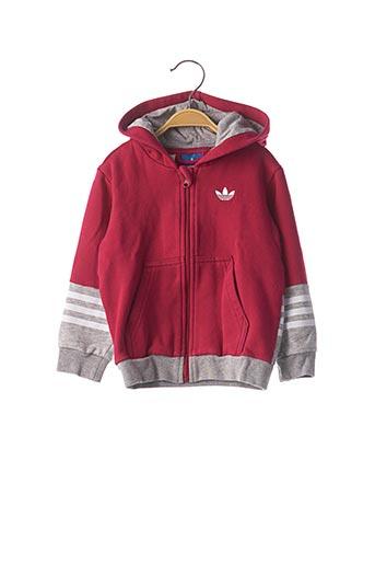 Veste casual rouge ADIDAS pour enfant