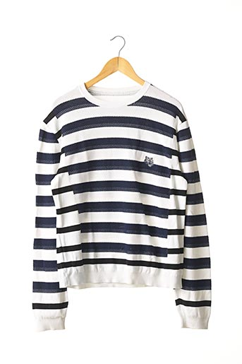 Pull col rond blanc KENZO pour femme