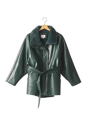 Manteau court vert FRANKIE SHOP pour femme
