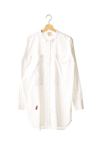 Robe courte blanc HOTEL PARTICULIER pour femme
