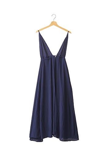 Robe longue bleu ALOHA TAHITI pour femme