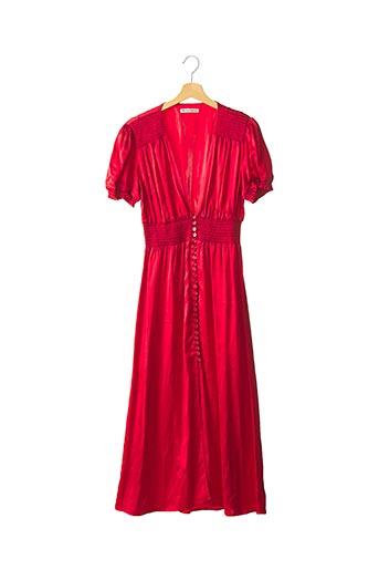 Robe longue rouge REFORMATION pour femme
