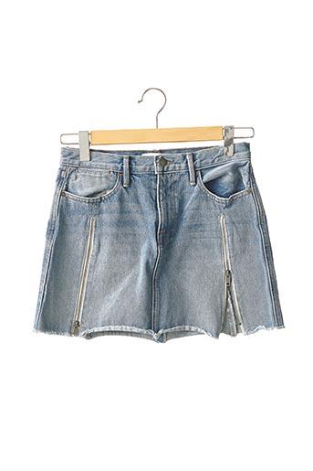 Jupe courte bleu FRAME pour femme