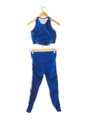 Survêtement bleu NIKE pour femme seconde vue