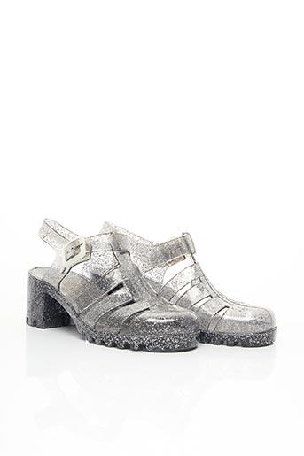 Sandales/Nu pieds gris SANS MARQUE pour femme