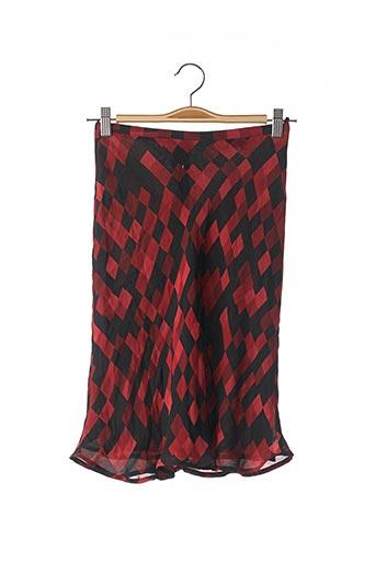 Jupe mi-longue rouge CORINNE SARRUT pour femme