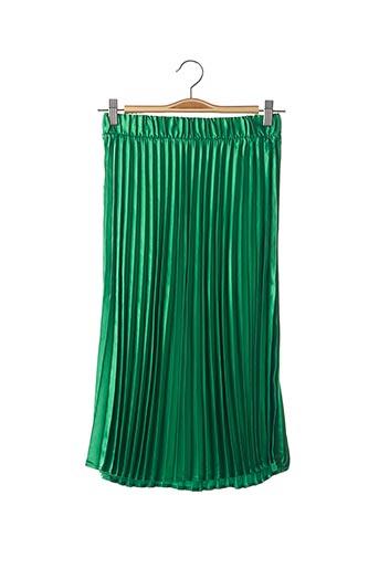 Jupe mi-longue vert NOISY MAY pour femme