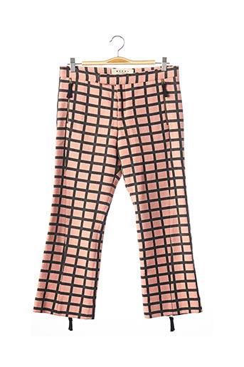 Pantalon 7/8 rose MARNI pour femme