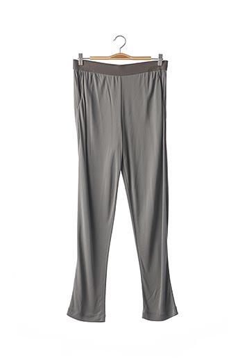Pantalon casual gris PIER ANTONIO GASPARI pour femme