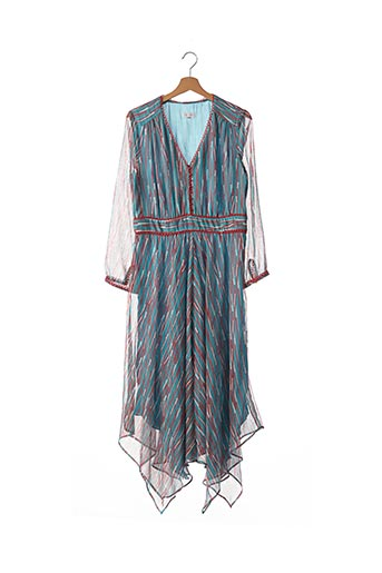 Robe longue bleu ALBA CONDE pour femme