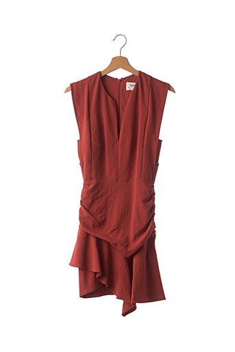 Robe mi-longue marron BA&SH pour femme