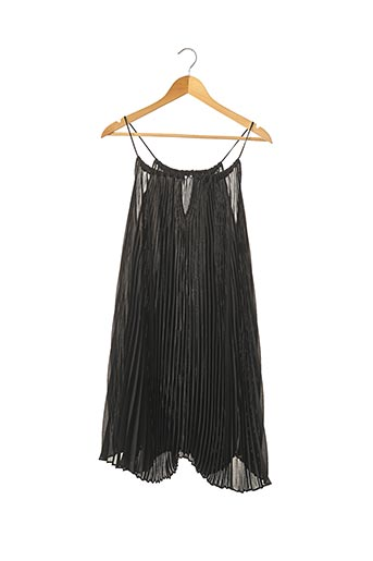 Robe mi-longue noir OLIVIER STRELLI pour femme