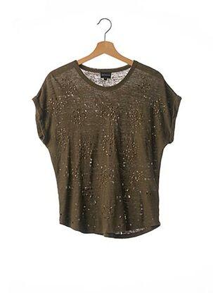 T-shirt manches courtes vert BERENICE pour femme