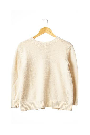Pull col rond beige SANDRO pour femme
