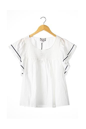 T-shirt manches courtes blanc PAUL & JOE pour femme