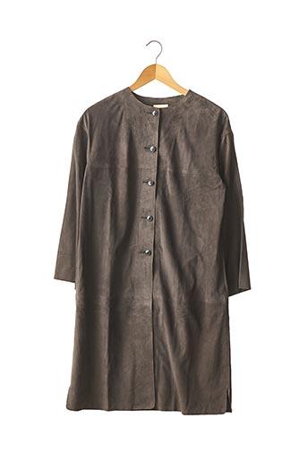Veste en cuir gris BELLEROSE pour femme