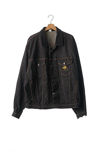 Veste en jean noir KENZO pour homme