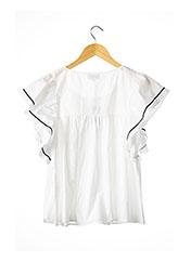 T-shirt manches courtes blanc PAUL & JOE pour femme seconde vue