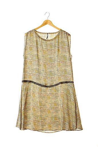 Robe mi-longue beige DIEGA pour femme