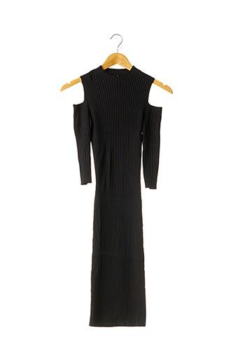Robe mi-longue noir MAJE pour femme