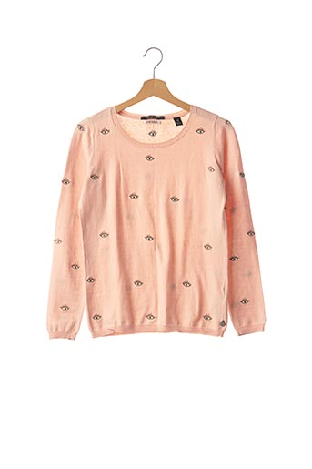 Pull col rond rose SCOTCH & SODA pour femme