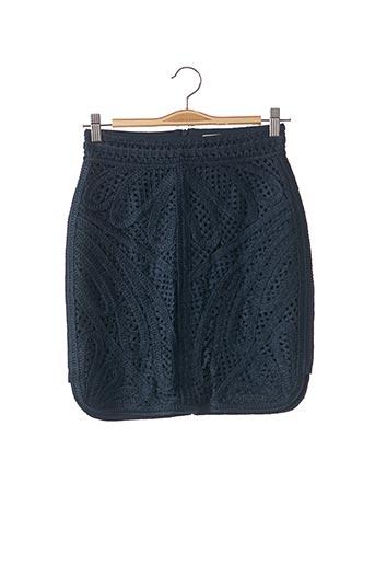 Jupe courte bleu MAJE pour femme