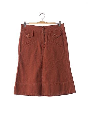 Jupe mi-longue orange MARC JACOBS pour femme