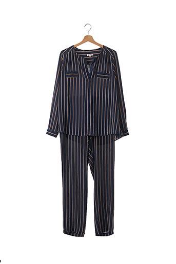Pull/pantalon bleu GRACE & MILA pour femme