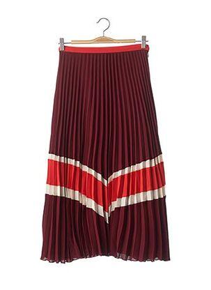 Jupe longue rouge IDANO pour femme
