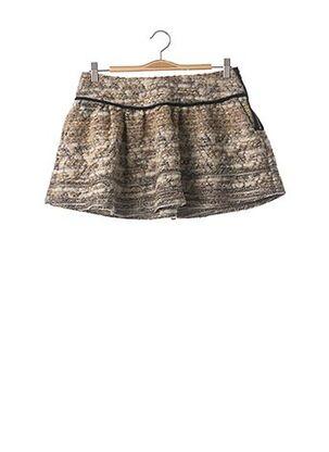 Mini-jupe beige VIOLET pour femme