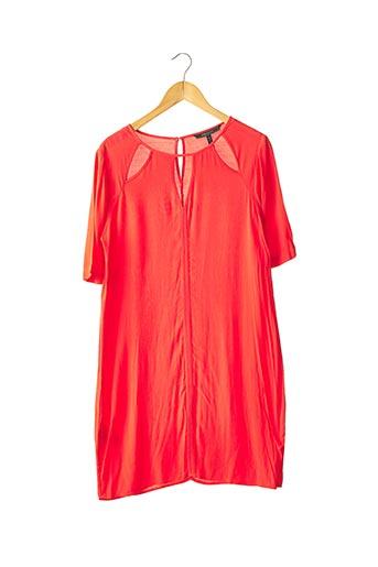 Robe mi-longue rouge BCBGMAXAZRIA pour femme