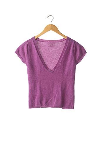 Pull col V violet ZADIG & VOLTAIRE pour femme