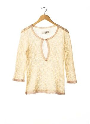 Pull col rond beige BY MALENE BIRGER pour femme