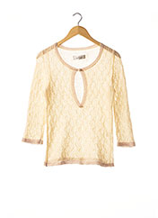 Pull col rond beige BY MALENE BIRGER pour femme seconde vue