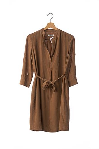 Robe courte marron MAX & MOI pour femme