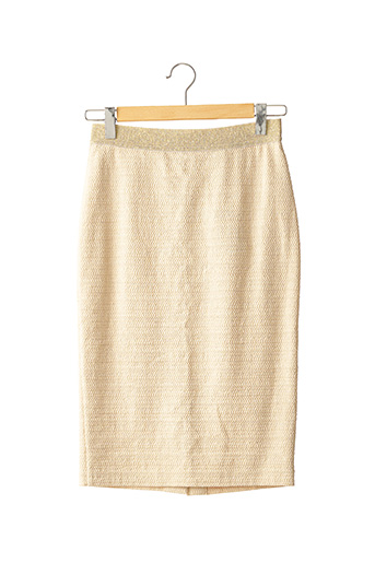 Jupe mi-longue beige CAROLINE BISS pour femme