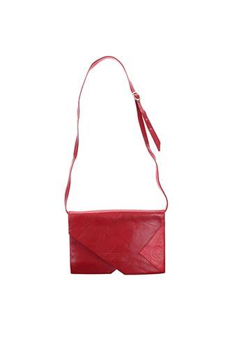 Pochette rouge BRUNO MAGLI pour femme